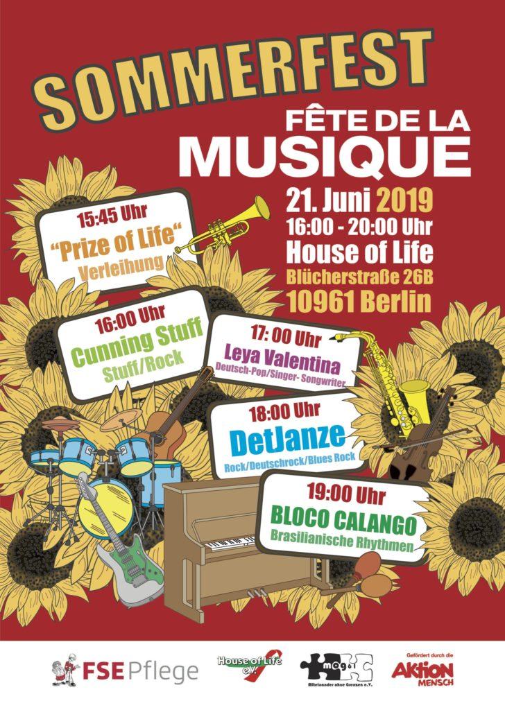 Einladung zur Fête de la Musique am 21.06.2019
